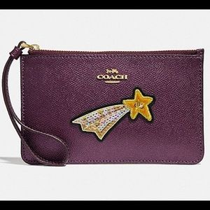 NWT Coach shooting star wristlet!! PRICE FIRM